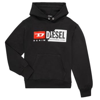 textil Barn Sweatshirts Diesel SGIRKHOODCUTY Svart