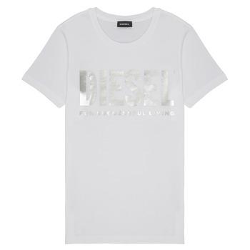textil Flickor T-shirts Diesel TSILYWX Vit