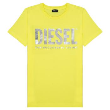 textil Flickor T-shirts Diesel TSILYWX Gul