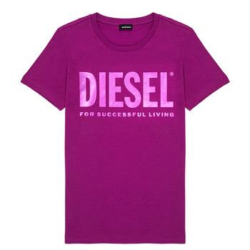 textil Flickor T-shirts Diesel TSILYWX Rosa