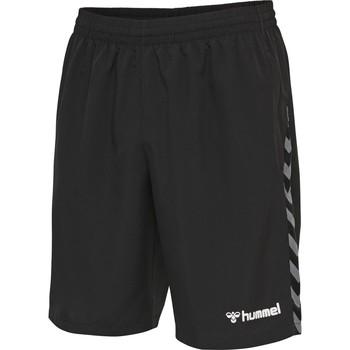 textil Pojkar Shorts / Bermudas Hummel Short enfant  Training hmlAUTHENTIC noir/blanc