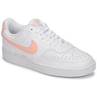 Skor Dam Sneakers Nike COURT VISION LOW Vit / Rosa