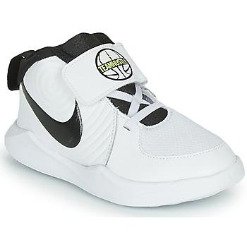 Skor Pojkar Basketskor Nike TEAM HUSTLE D 9 TD Vit / Svart