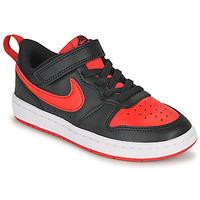 Skor Barn Sneakers Nike COURT BOROUGH LOW 2 PS Svart / Röd