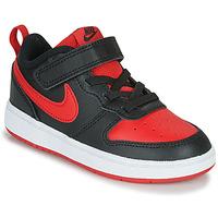 Skor Barn Sneakers Nike COURT BOROUGH LOW 2 TD Svart / Röd