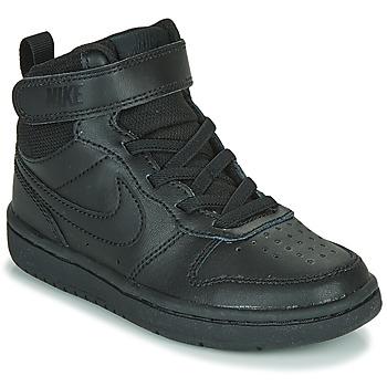 Skor Barn Höga sneakers Nike COURT BOROUGH MID 2 PS Svart