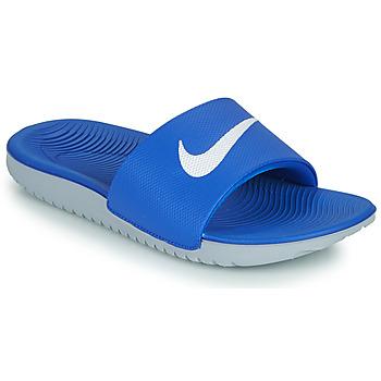 Skor Barn Flipflops Nike KAWA GS Blå / Vit