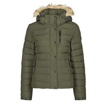textil Dam Täckjackor Superdry CLASSIC FAUX FUR FUJI JACKET Mörk / Mossgrön