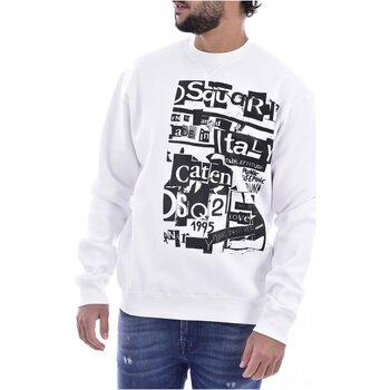 textil Herr Sweatshirts Dsquared S74GU0305 Vit