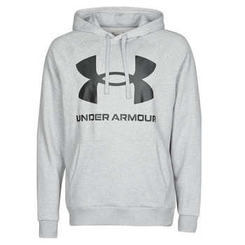 textil Herr Sweatshirts Under Armour UA RIVAL FLEECE BIG LOGO HD Grå / Ljus