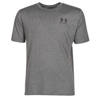 textil Herr T-shirts Under Armour SPORTSTYLE LEFT CHEST SS Grå