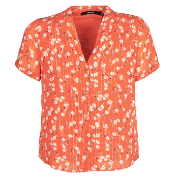 textil Dam Blusar Vero Moda VMSOFIE Röd