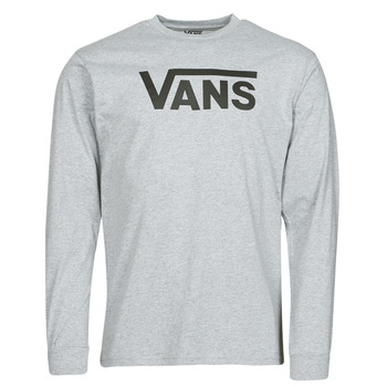 textil Herr Långärmade T-shirts Vans VANS CLASSIC LS Grå