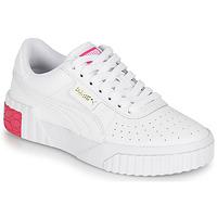 Skor Flickor Sneakers Puma CALI JR Vit / Rosa