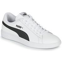 Skor Herr Sneakers Puma SMASH Vit / Svart