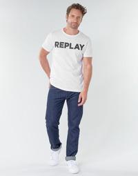 textil Herr Raka byxor Replay GROVER Blå / Mörk
