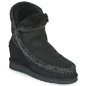 Skor Dam Boots Mou ESKIMO INNER WEDGE SHORT Svart