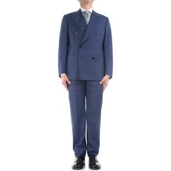 textil Herr Kostymer Cesare Attolini S20WA30 B12 Blue