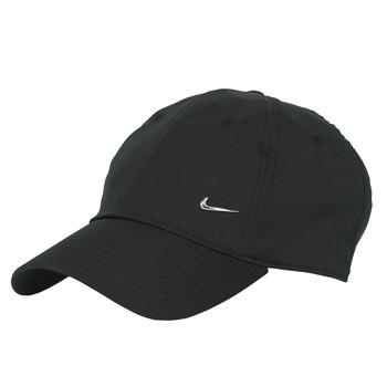 Accessoarer Keps Nike U NSW H86 METAL SWOOSH CAP Svart / Silver