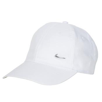 Accessoarer Keps Nike U NSW H86 METAL SWOOSH CAP Vit / Silver