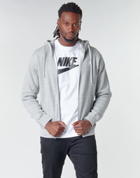 textil Herr Sweatshirts Nike M NSW CLUB HOODIE FZ BB Grå