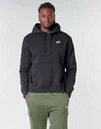 textil Herr Sweatshirts Nike M NSW CLUB HOODIE PO BB Svart / Vit