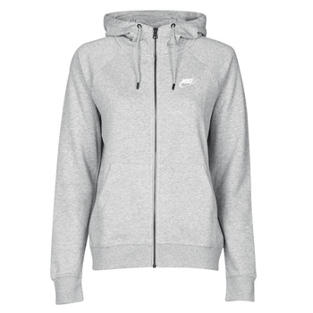 textil Dam Sweatshirts Nike W NSW ESSNTL HOODIE FZ FLC Grå