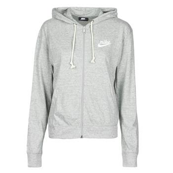 textil Dam Sweatshirts Nike W NSW GYM VNTG HOODIE FZ Grå