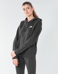 textil Dam Sweatshirts Nike W NSW ESSNTL HOODIE PO FLC Svart