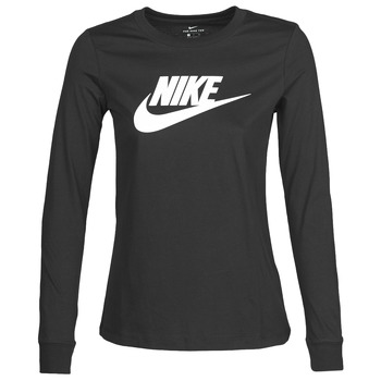 textil Dam Långärmade T-shirts Nike W NSW TEE ESSNTL LS ICON FTR Svart