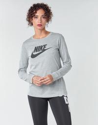 textil Dam Långärmade T-shirts Nike W NSW TEE ESSNTL LS ICON FTR Grå