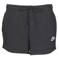 textil Dam Shorts / Bermudas Nike W NSW ESSNTL SHORT FT Svart