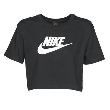 textil Dam T-shirts Nike W NSW TEE ESSNTL CRP ICN FTR Svart