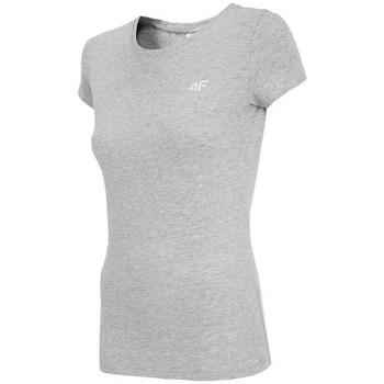 textil Dam T-shirts 4F NOSH4 TSD001 Chłodny Jasny Szary Melanż Gråa