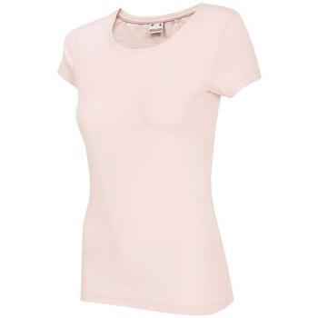 textil Dam T-shirts 4F NOSH4 TSD001 Jasny Róż Rosa