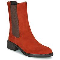 Skor Dam Boots Regard DAMGAN V2 VELOURS CHATAIGNE Röd