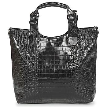Väskor Dam Handväskor med kort rem Moony Mood EMIRA CROCO Svart
