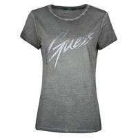 textil Dam T-shirts Guess SS CN IVONNE TEE Svart