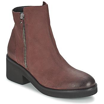 Skor Dam Boots Vic ASCILLE Bordeaux