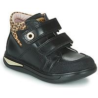 Skor Flickor Höga sneakers Pablosky 490611 Svart / Leopard