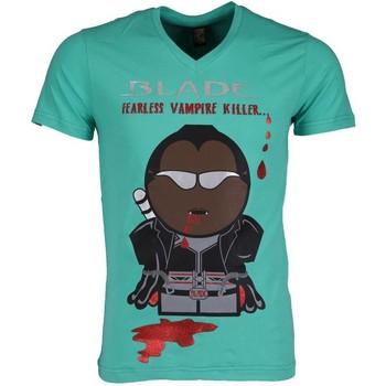 textil Herr T-shirts Local Fanatic Blade Fearless Vampire Killer Groen Grön