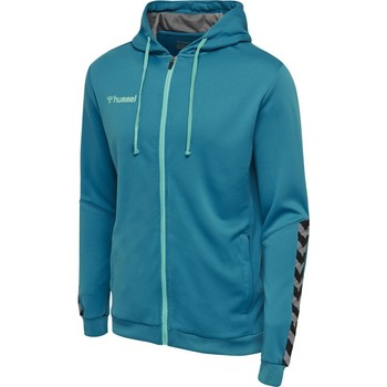 textil Barn Sweatshirts Hummel Sweatshirt enfant  zip hmlAUTHENTIC Poly bleu