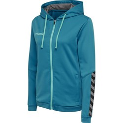 textil Dam Sweatshirts Hummel Sweatshirt femme  zip hmlAUTHENTIC Poly bleu