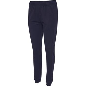 textil Dam Joggingbyxor Hummel Pantalon femme  hmlGO cotton bleu marine