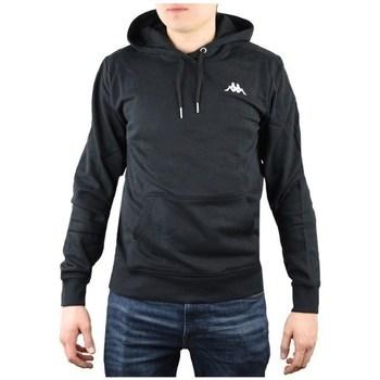 textil Herr Sweatshirts Kappa Vend Hooded Svarta