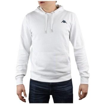 textil Herr Sweatshirts Kappa Vend Hooded Vit