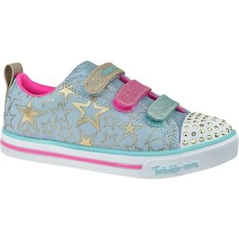 Skor Barn Sneakers Skechers Sparkle Litestars The Limit Blå, Rosa