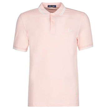 textil Herr Kortärmade pikétröjor Fred Perry TWIN TIPPED FRED PERRY SHIRT Silverpink / Snw