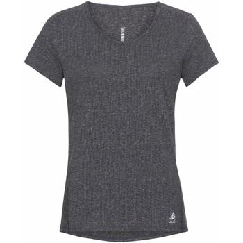 textil Dam T-shirts Odlo T-shirt femme  Lou Linencool gris