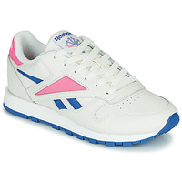 Skor Sneakers Reebok Classic CL LEATHER MARK Vit / Rosa